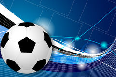 Soccer ball on the background Royalty Free Stock Photography