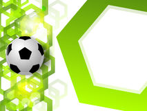 Soccer ball on the background Royalty Free Stock Photos