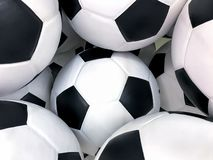 Soccer Ball Background,isolated on white background royalty free stock photos
