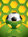 Soccer ball background. Royalty Free Stock Photography