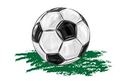 Soccer ball background. Vector illustration shows Soccer ball Royalty Free Stock Photos