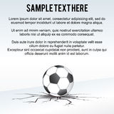 Soccer Ball Background Vector Stock Image