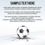 Soccer Ball Background Vector Stock Image