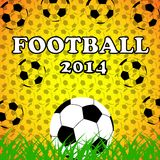 Soccer ball background. Yellow background,grass, sporting summer,entertainment  football Royalty Free Illustration