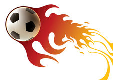 Soccer ball banner Royalty Free Stock Photo