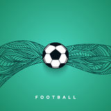 Soccer ball banner with background. Football euro championship 2016 Royalty Free Stock Photo