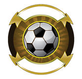 Soccer ball banner Stock Photography