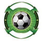 Soccer ball banner Stock Photos