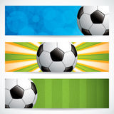 Soccer ball banners Stock Image