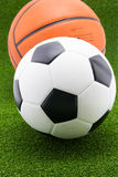 Soccer ball with basketball Royalty Free Stock Photo