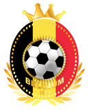 Soccer ball on Belgium flag Royalty Free Stock Images