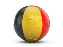 Soccer ball Belgium flag Stock Photography