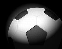 Soccer ball on black Stock Photo