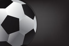 Soccer ball on black background. Insert text soccer ball on black background c Stock Images