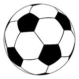 Soccer ball. Black outline vector soccer ball on white background Royalty Free Stock Photography