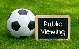 Soccer ball and blackboard Royalty Free Stock Images