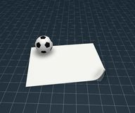 Soccer plan Royalty Free Stock Image