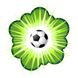 Soccer ball and blow up Royalty Free Stock Image