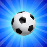 Soccer Ball on Blue Background Royalty Free Stock Photo
