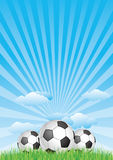 soccer ball with blue sky Stock Photo