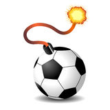 Soccer ball bomb Royalty Free Stock Images