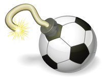 Soccer ball bomb concept Royalty Free Stock Image