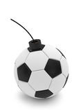 Soccer ball bomb on white Stock Image