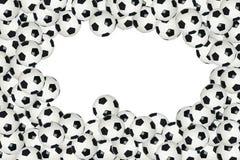 Soccer ball border Stock Images