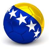 Soccer Ball With Bosnian Herzegovinian Flag 3D Render. A soccer ball with flag of bosnia and herzegovina, isolated on white Stock Photos