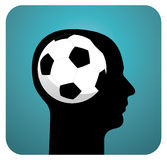 Soccer ball brains Royalty Free Stock Images