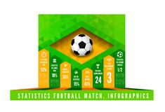 Soccer ball with brasil flag in triangle style Stock Image