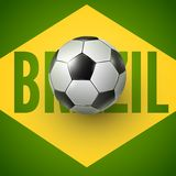 Soccer ball of Brazil 2014 Royalty Free Stock Image