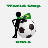 Soccer ball of Brazil 2014. Background for world cup 2014 in Brazil Stock Photos