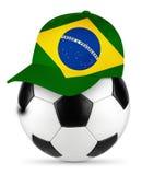 Soccer ball brazil baseball cap vector illustration