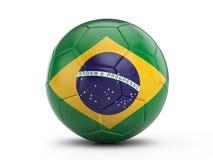 Soccer ball Brazil flag Royalty Free Stock Image