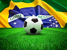Soccer ball brazil Stock Image