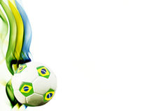 Soccer ball and brazil`s flag colors Stock Photos
