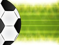 Soccer ball. Brazil world cup football 2014. Royalty Free Illustration