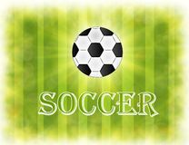 Soccer ball. Brazil world cup football 2014. Stock Photo