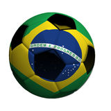 Soccer ball with brazilian flag Stock Image