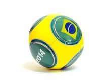 Soccer Ball with Brazilian Flag Stock Photos