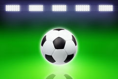 Soccer ball, bright light Stock Photography