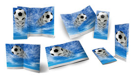 Soccer ball brochure. 3d template of soccer ball brochure Stock Photo