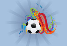 Soccer Ball with Brush Strokes Royalty Free Stock Image