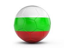 Soccer ball Bulgaria flag Royalty Free Stock Photo