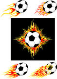 Soccer ball burning Royalty Free Stock Photography