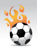 Soccer ball burning. 3d soccer ball with burning flames Stock Photos