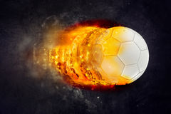 Soccer Ball Burning in Flames Royalty Free Stock Photos