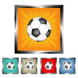 Soccer ball buttons Stock Image