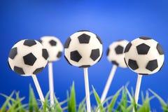 Soccer ball cake pops stock photo